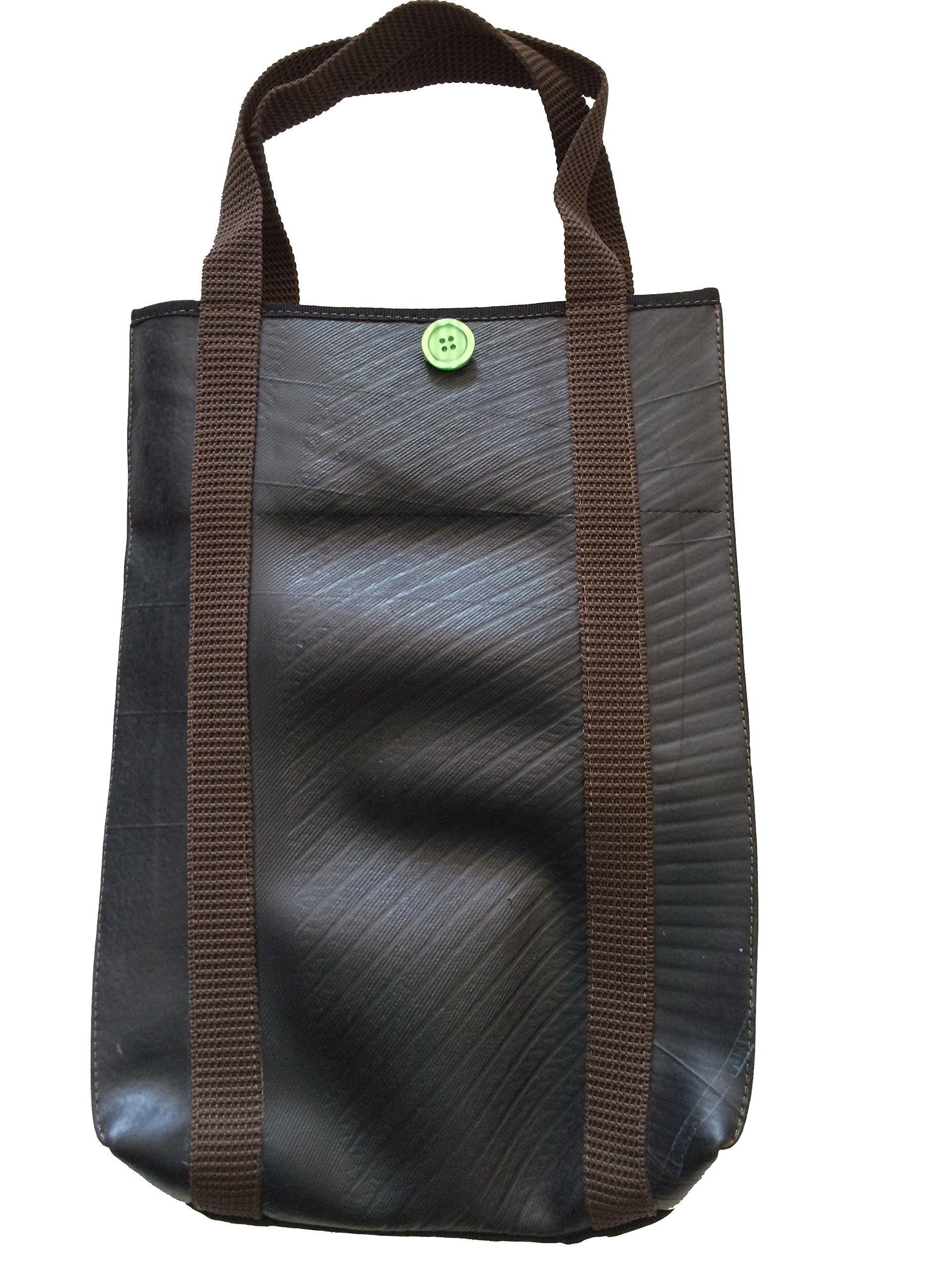 Recycled rubber Tote handbag Bagy - handmade-bags