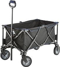 10T Foldy Trolley XXL Bollerwagen bis 50 kg Strandwagen mit Bremse faltbarer Handwagen Kinderwagen inkl. Einlegeboden Zugstange mit Rund-Griff und Transport-Tasche