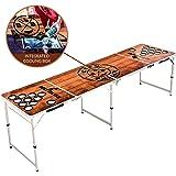 BeerBaller® Bierpong tafel Wood 'N' Ice met koelvak & bekerhouders - inklapbare beer-pong tafel met praktische ballenhouder e