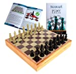 StonKraft Handcarved Chess Board With Wooden Base But Stone Inlaid Work - Chess Game Board Set With Handcrafted Natural...
