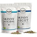 TEATOX Skinny Teatox Programm, Skinny Morning & Skinny Night, Bio Grüntee mit Mate & Bio Kräutertee mit Rooibos (14 Tage Programm in Refills)