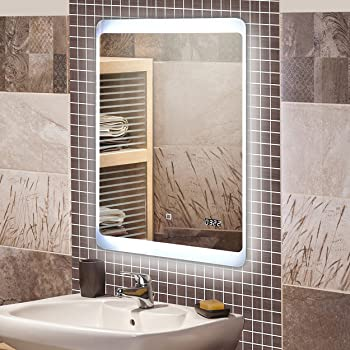 KROLLMANN Badspiegel mit LED Beleuchtung / Badezimmer Spiegel ...
