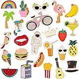 EuTengHap 25 Pieces Cartoon Brooch Pin Cute Enamel Lapel Pin Badges Brooch Pins Set for Clothing Jackets Backpacks DIY…