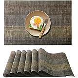 Raniaco Set de Table - 6 PVC Set de Table Antidérapant Lavable Chaleur Résiste Set de Table Accueil Restaurant Un Hôtel, 45 *