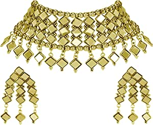 Total Fashion Necklace Set With Earrings for Women & Girls