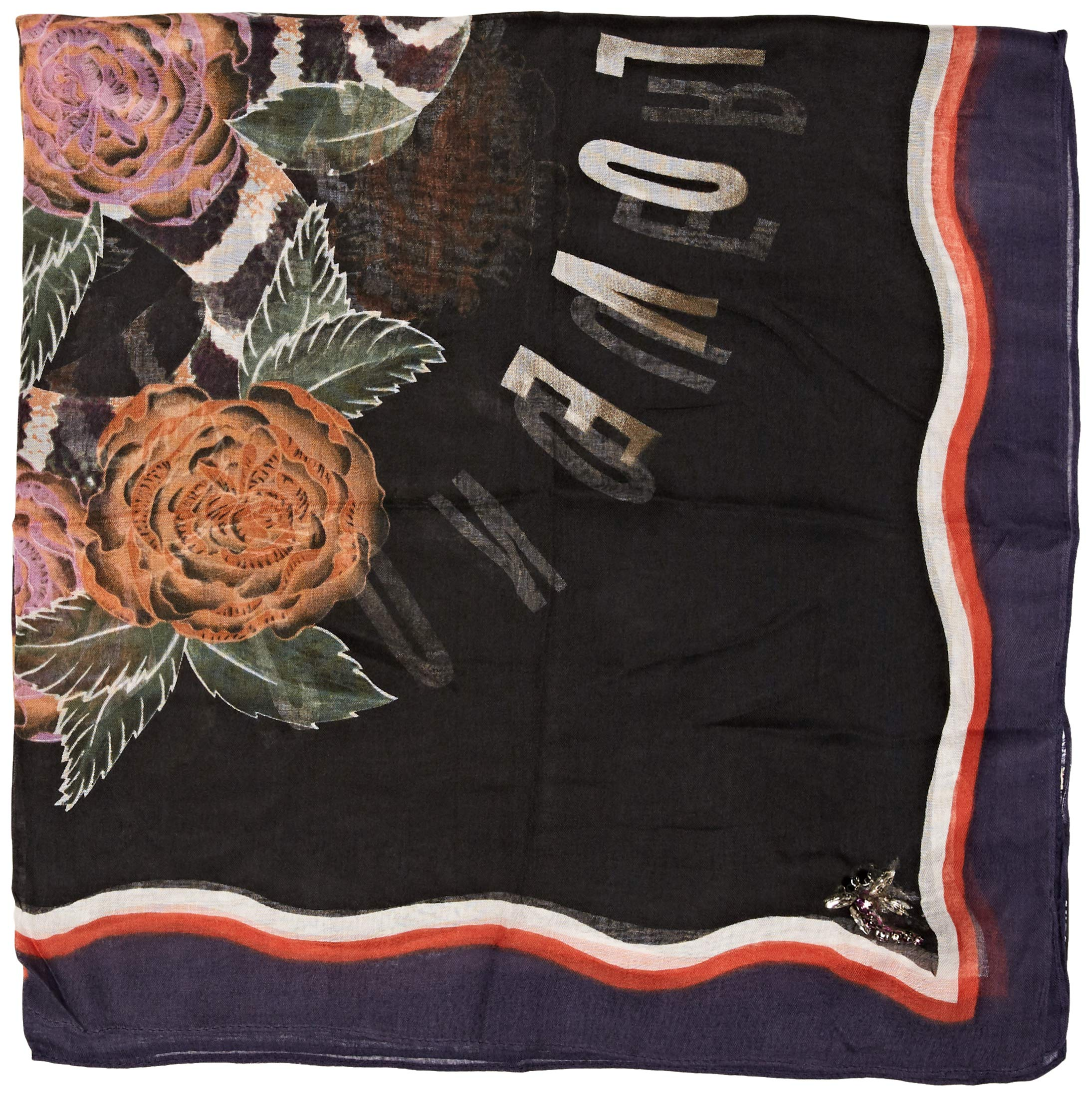 Guess Foulard Pañuelo, Multicolor (Flower and Snake Bla F90c), Talla única (Talla del fabricante: ONE) para Mujer