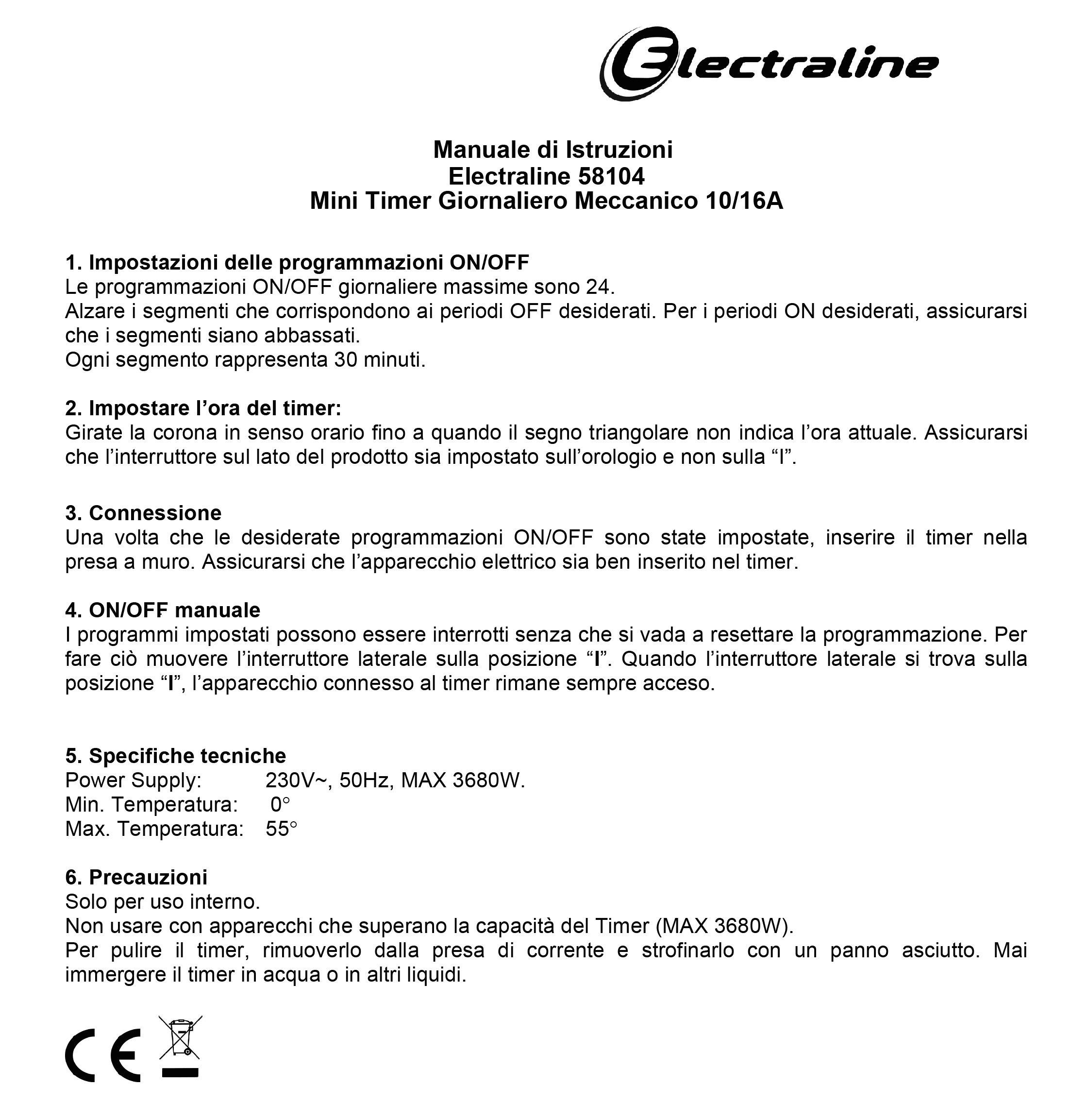 Electraline-3333-Kit-3-pezzi-Programmatore-Timer-meccanico-giornaliero-3680-W-250-V-Set-di-3