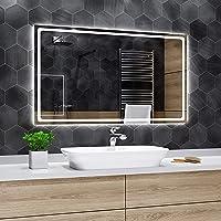 Alasta Miroir | Houston - Miroir Mural avec LED Illumination | 60x40cm | Miroir de Salle de Bain | Classe Énergétique A…