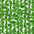 SOMONEY Kunstmatige Ivy 15 Pack 105 Ft, Kunstmatige Ivy Leaf Garland Planten Nep Ivy Wijnstok Opknoping voor Bruiloft Partij