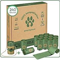 SMARTPAWS Hundekotbeutel biologisch abbaubar mit Bio Beutelspender | 100% kompostierbare Kotbeutel für Hunde | Extra…