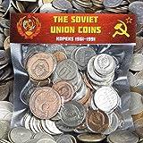 الكثير من 100 عملة الاتحاد السوفيتي السوفياتي KOPEKS 1961-1991 مطرقة الحرب الباردة والمال من المال
