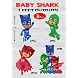 wow party studio ™ pj masks theme cardstock cutouts for birthday party decoration - 8 pcs- Multi color