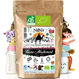 Nabür - Tisane Allaitement N°1 BIO 120 Gr ⭐ 4-en-1 ⭐ Tisane Fenouil, Carvi, Fenugrec, Honeybush ⭐ Coliques, Favorise la lacta
