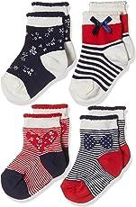 Mothercare Baby Girls' Socks (Pack of 4)