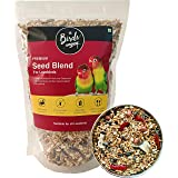 The Birds Company Premium Seed Blend of 9 Grains & Nuts, Fortified with Spirulina & Cuttlefish Bone, Bird Food for Lovebirds,