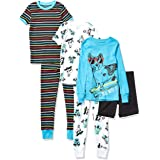 Marca Amazon - Spotted Zebra 6-Piece Snug-fit Cotton Pajama Set Unisex bebé