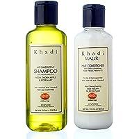 Khadi Mauri Herbal Anti Dandruff Combo (Anti Dandruff Shampoo, 210ml and Herbal Hair Conditioner, 210ml)