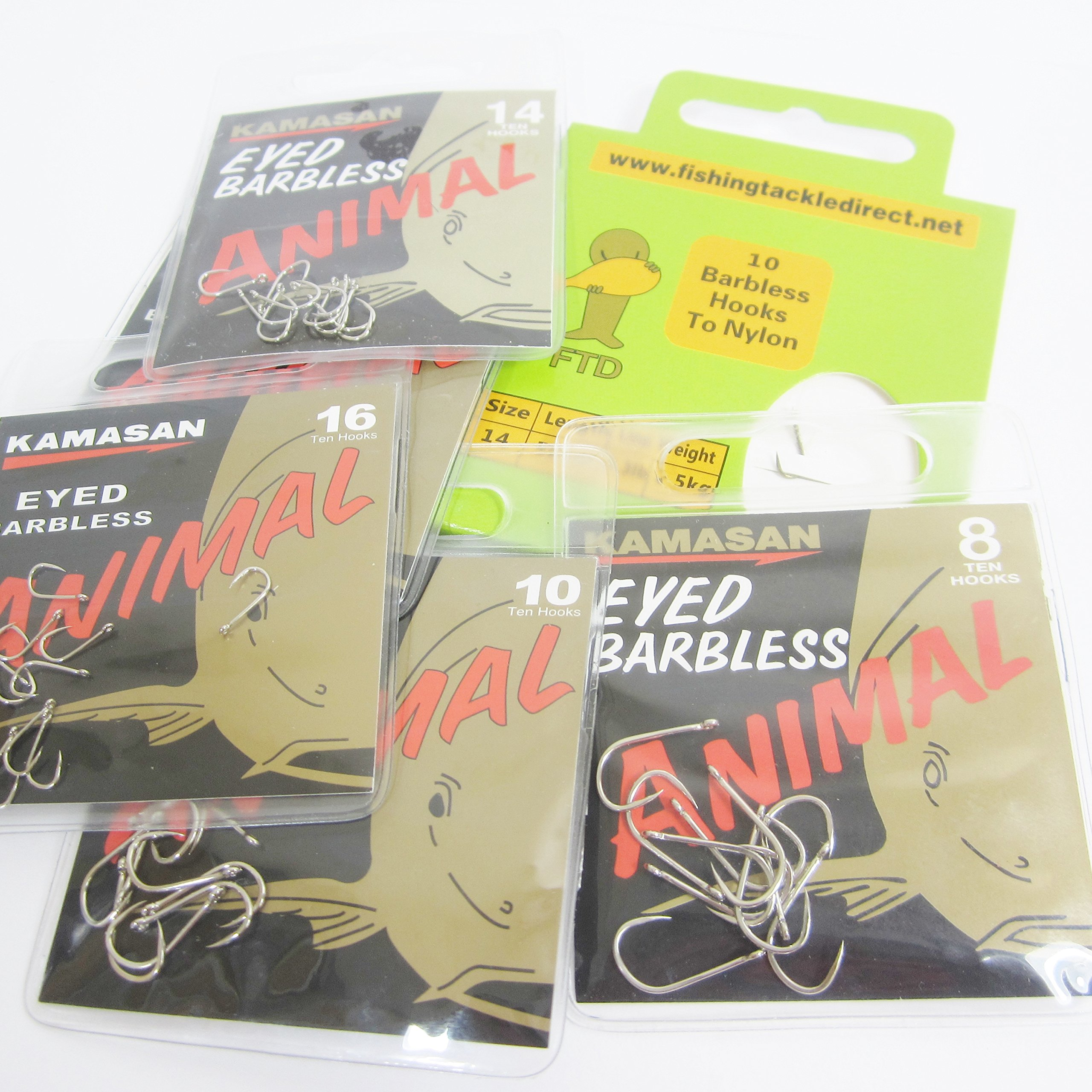 Three Packets of B911  Eyed Barbless Hooks to Nylon Bait Band Rigs.Size 16.