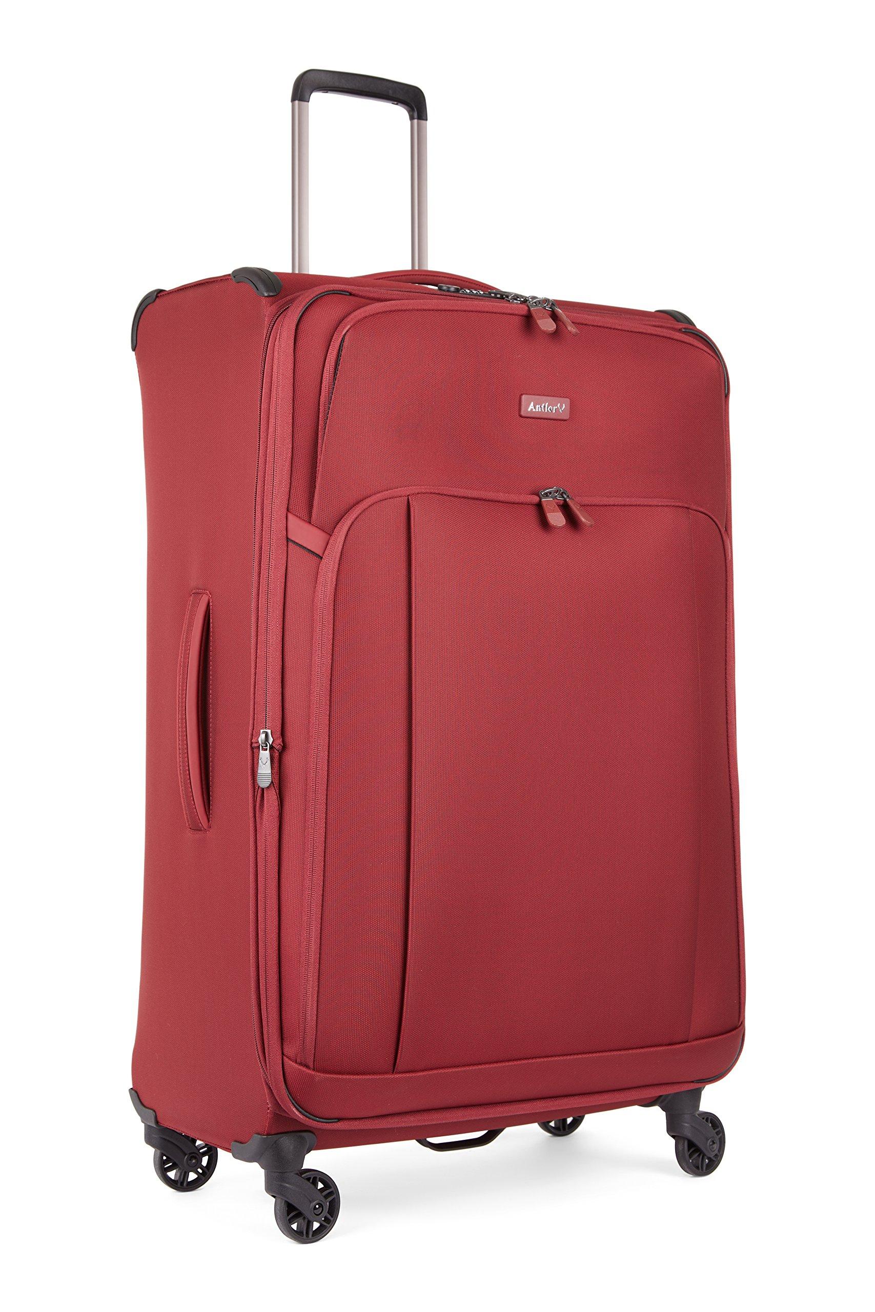 48d0900e8d55 I❶I Antler Suitcase Atmosphere 4 Wheel Spinner Large 82cm-106L Burgundy 82  cm 106 liters Rot Burgundy - Kofferladen.com