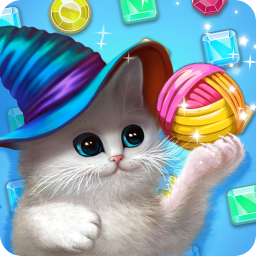 Zauberkatzen: 3 Gewinnt (Lustig Kitty Paar Spiele)