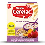 Nestle Cerelac Fortified Baby Cereal with Milk, 5 Grains & Fruits – From 18 to 24 Months, 300g Pack