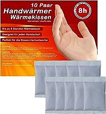 Handwärmer, Taschenwärmer Wärmekissen Wärme-Pads für Handschuhe und Skifahren bis zu 8 Stunden wohltuende Wärme von 55°C, 5-10-20-30 Paar