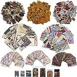 670 Pièces Autocollants Washi et Papier de Scrapbook Vintage Fournitures de Journalisation Scrapbooking Vintage Papier Décora