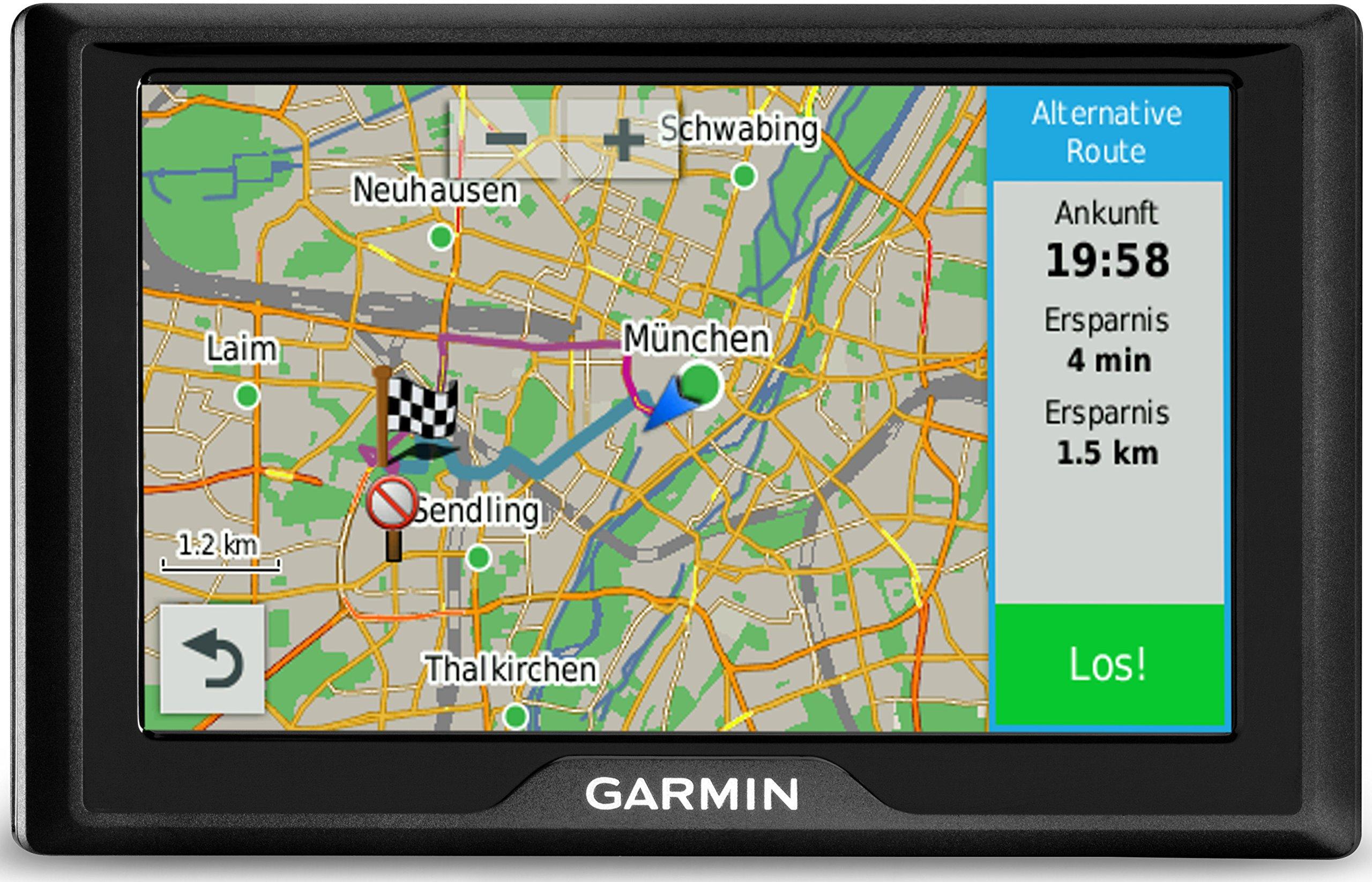 Garmin-Drive-LMT-CE-Navigationsgert-lebenslange-Kartenupdates-Premium-Verkehrsfunklizenz-Touchscreen