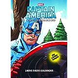 Capitán América. Los orígenes. Libro para colorear: Colorear con pegatinas (Marvel. Los Vengadores)