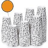 120 Vasos Desechables de Café para Llevar - Vasos Carton 360 ml para Servir el Café, el Té, Bebidas Calientes y Frías