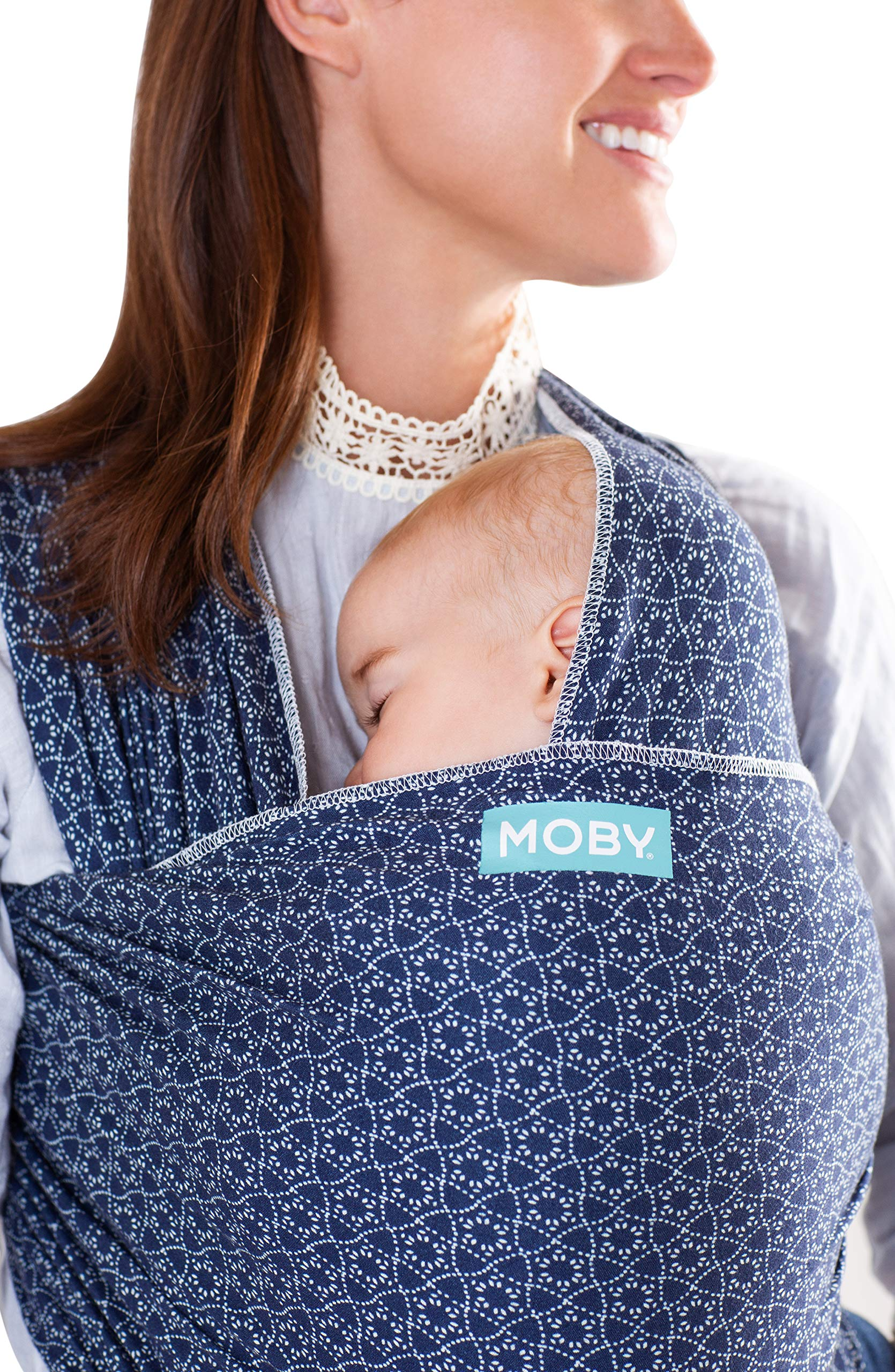 MOBY Evolution Baby Wrap Carrier for Newborn to Toddler up to 30lbs, Baby Sling from Birth, One Size Fits All, Breathable Stretchy Made from 70% Viscose 30% Cotton, Unisex Moby 70% Viscose / 30% Cotton Knit One-size-fits-all Grows with baby, from newborn to toddler 7
