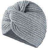MFAZ Morefaz Ltd Donne Cappello Chemo Hat Turban Lana Mohair a Maglia Headwear Cross Twist