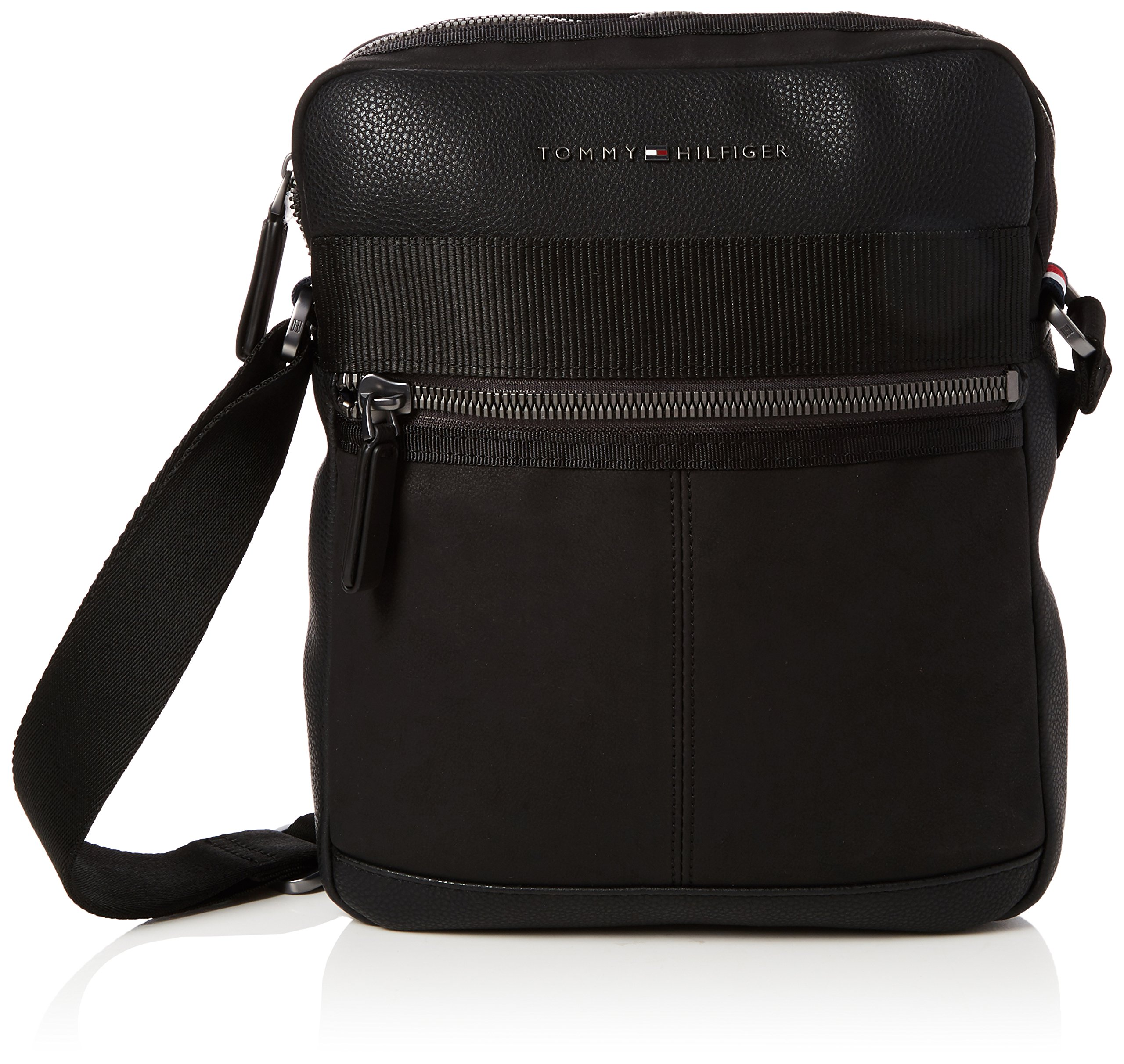 Tommy Hilfiger – Playful Novelty Reporter, Shoppers y bolsos de hombro Hombre, Negro (Black), 6x28x23 cm (B x H T)