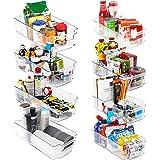 KICHLY – Opberbakken Bijkeuken (Transparant) - Set van 8 containers (4 grote en 4 kleine opbergbakken) Opslag voor keuken, bi