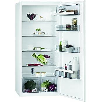 AEG SKB51221AS Kühlschrank / 207 Liter Kühlschrank ohne Gefrierfach / großer Einbaukühlschrank mit Glasablagen & LC-Display / vollautomatisches Abtauen & hygienisches Design / A++ / H: 122,5 cm / weiß