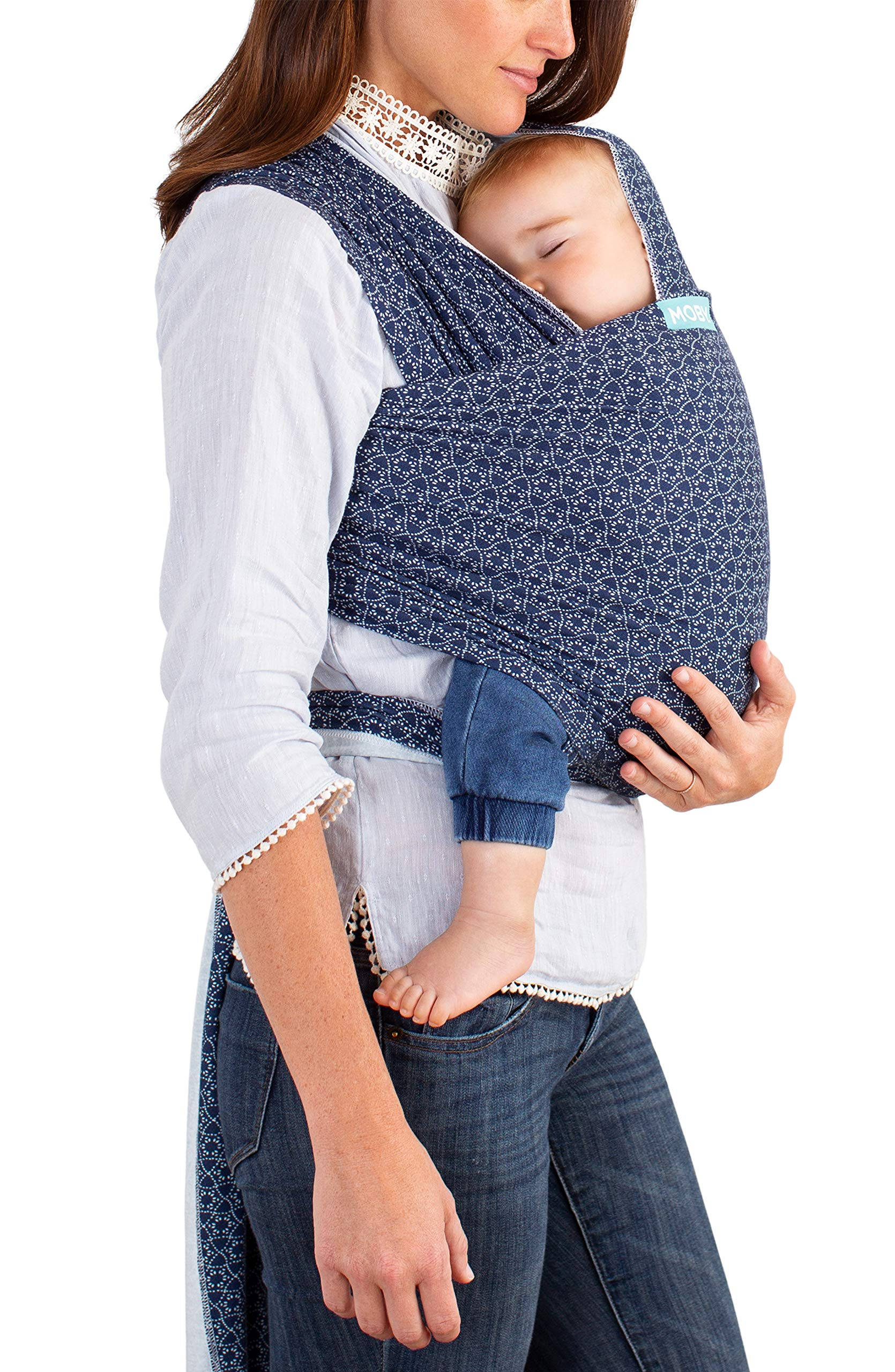 MOBY Evolution Baby Wrap Carrier for Newborn to Toddler up to 30lbs, Baby Sling from Birth, One Size Fits All, Breathable Stretchy Made from 70% Viscose 30% Cotton, Unisex Moby 70% Viscose / 30% Cotton Knit One-size-fits-all Grows with baby, from newborn to toddler 8
