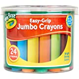 Crayola My First Jumbo-färgpennor Easy-Grip, Flerfärgad, Paket med 24