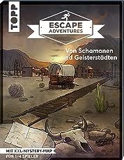 Escape Adventures – Von Schamanen und Geisterstädten: Das ultimative Escape-Room-Erlebnis jetzt auch als Buch! Mit XXL-Mystery-Map für 1-4 Spieler. 90 Minuten Spielzeit