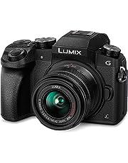 PANASONIC LUMIX G 4K Camera with 14-42mm MEGA O.I.S. Lens, 16 Megapixels, Touch LCD, DMC-G7KGW-K (USA BLACK)