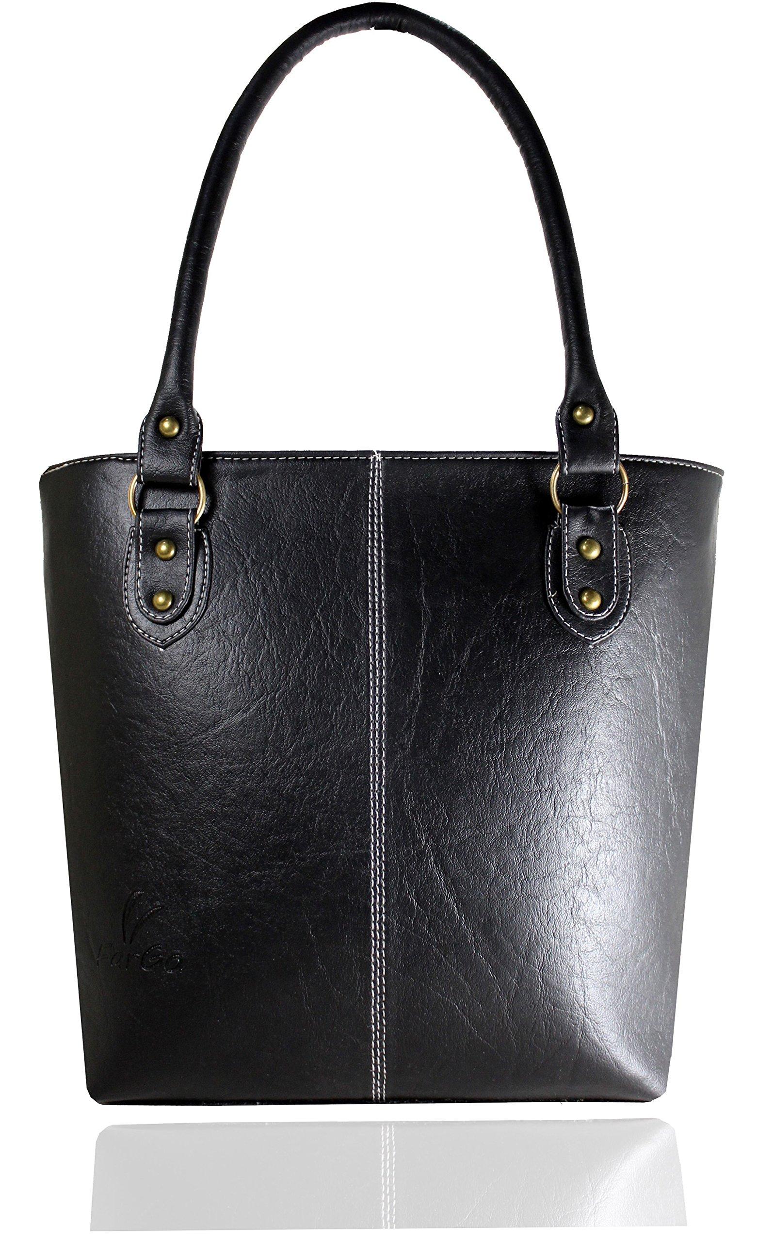 af483b47c1 Fargo Fine Line PU Leather Women s   Girl s Shoulder Handbag (Black FGO-006)