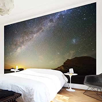 Fototapete sternenhimmel  Vliestapete - Sternenhimmel über dem Meer - Fototapete Breit Vlies ...