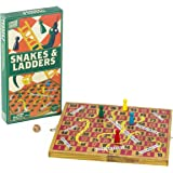Professor Puzzle WOODEN SNAKES AND LADDERS - Traditional / Classic Wooden Family Board Game, Folding Design, Fun Family game,