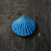 Two Moustaches Shell Design Door Knocker - Rustic Blue