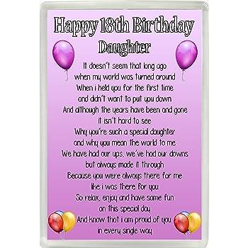 Happy 18th Birthday Daughter Poem Jumbo Fridge Magnet Ideal Keepsake Gift M12