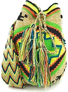 Sac /à Dos Wayuu /à la Fois pour Les Femmes et Les Hommes. Sacs /à Main colombiens avec des Motifs Tribaux