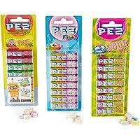 PEZ Dispenser Candy Refills 3 Set (1 Fruit, 1 Fizzy, 1 Sour), PEZMIX1