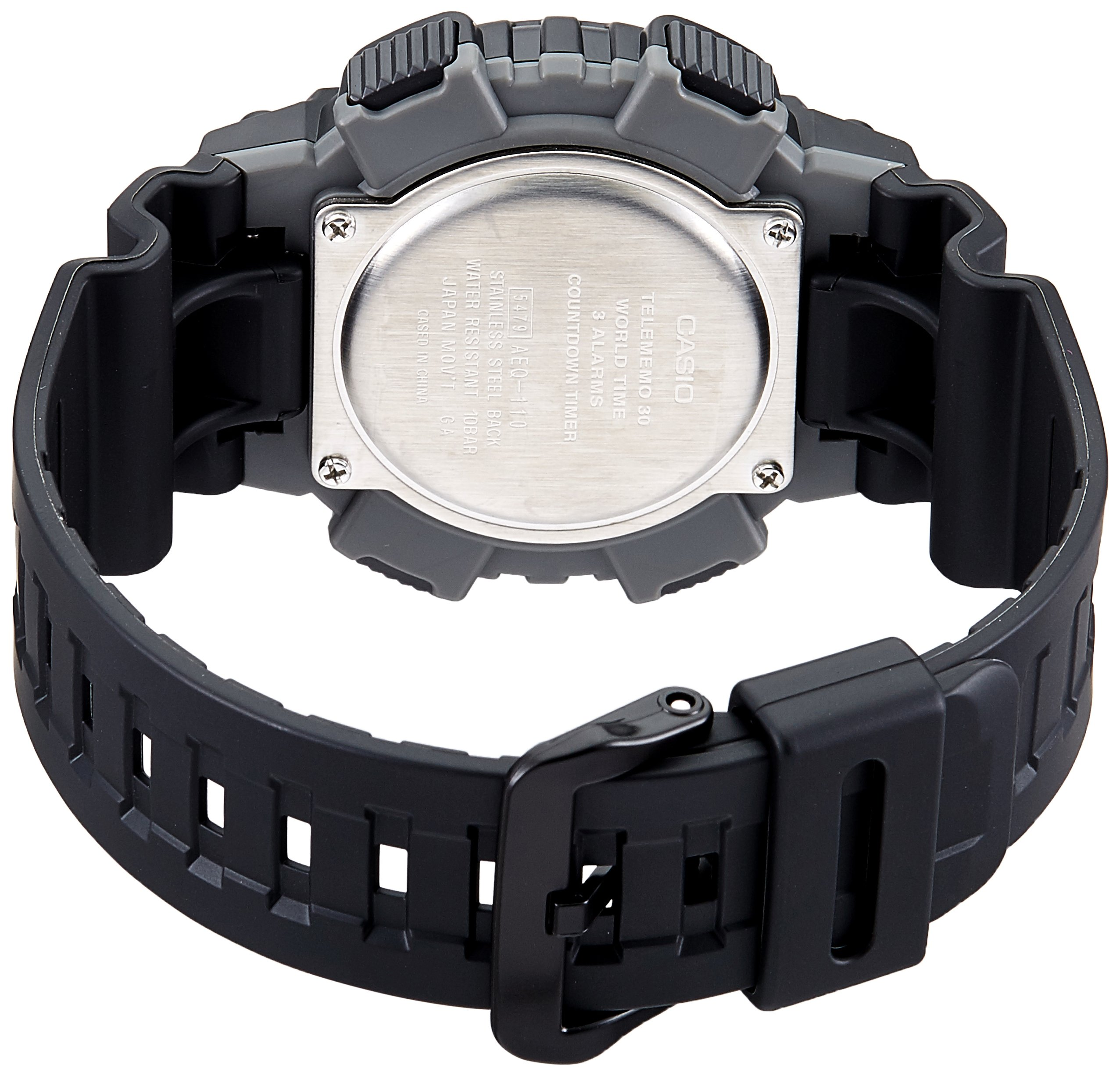 Casio Youth-Combination Analog-Digital Black Dial Men's Watch – AEQ-110W-1AVDF (AD207)