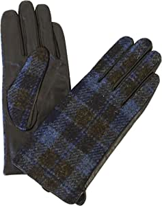 Glen Appin Ladies Harris Tweed//Leather Gloves Brand New