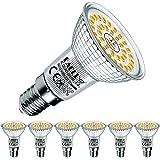 EACLL E14 LED warm wit 6W Vervangt 60W R50 halogeen gloeilamp, pak van 6. 2700K 695 lumen lichtbron, AC 230V flikkervrije spa