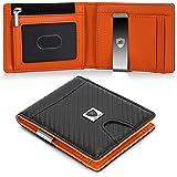 Slim Mens Card Wallet, RFID Blocking Wallet, Moneyclip Credit Card Holder, Coin Purse, Minimalist Wallets for Men, Designer G